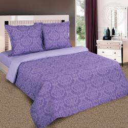 """Купить постельное белье поплин гладкокрашеный """"Византия фиолетовая"""" {citys}"""