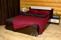 Купить бордово-шоколадное трикотажное постельное белье
